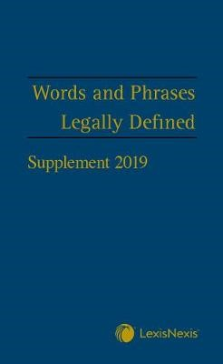 Words and Phrases Legally Defined 2019 Supplement - pr_420188