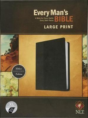 NLT Every Man's Bible, Large Print, Black/Onyx, Indexed - pr_132817