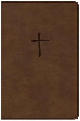 CSB Compact Bible, Brown LeatherTouch, Value Edition -