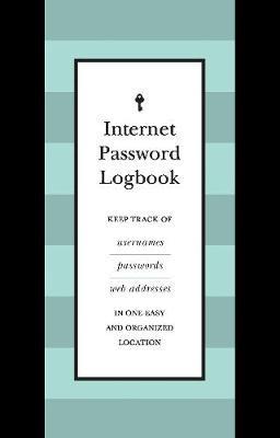 Internet Password Logbook (Black Leatherette) -