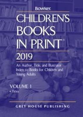 Children's Books In Print, 2019 -