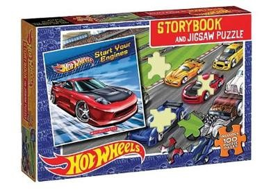 Hot Wheels Book & Puzzle -