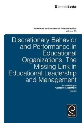 Discretionary Behavior and Performance in Educational Organizations - pr_84527