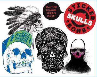 Stickerbomb Skulls -