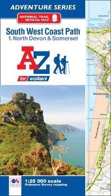 SW Coast Path North Devon & Somerset Adventure Atlas -