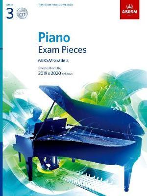 Piano Exam Pieces 2019 & 2020, ABRSM Grade 3, with CD -