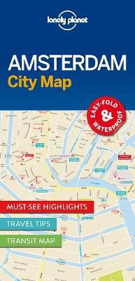 Lonely Planet Amsterdam City Map -