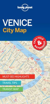Lonely Planet Venice City Map -