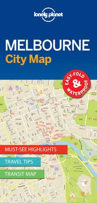 Lonely Planet Melbourne City Map -