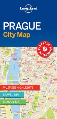 Lonely Planet Prague City Map -