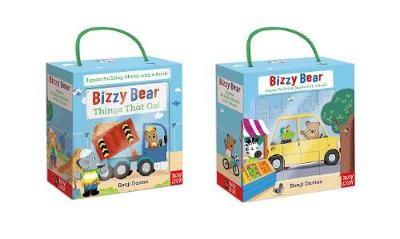 Bizzy Bear Book and Blocks set -