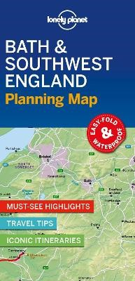 Lonely Planet Bath & Southwest England Planning Map -