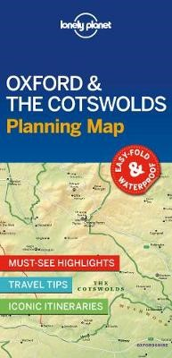 Lonely Planet Oxford & the Cotswolds Planning Map -