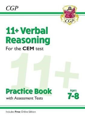 11+ CEM Verbal Reasoning Practice Book & Assessment Tests - Ages 7-8 (with Online Edition) - pr_288022