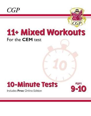 11+ CEM 10-Minute Tests: Mixed Workouts - Ages 9-10 (with Online Edition) - pr_231905