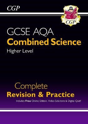 New GCSE Combined Science AQA Higher Complete Revision & Practice w/ Online Ed, Videos & Quizzes -