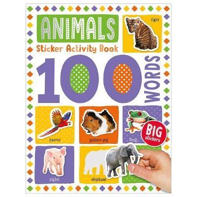 100 Animal Words Sticker Activity -