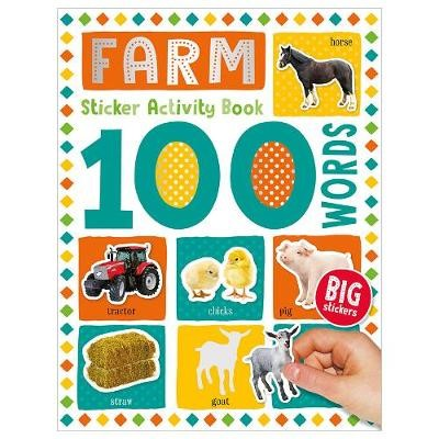 100 Farm Words Sticker Activity -