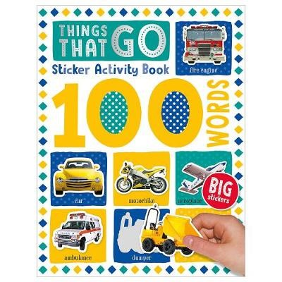 100 Things That Go Words Sticker Activity -