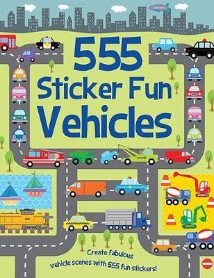 555 Sticker Fun Vehicles -