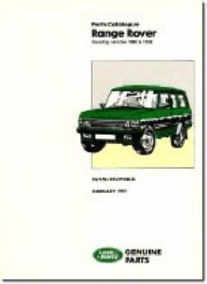 Range Rover Parts Catalogue 1986-1991 - pr_214162