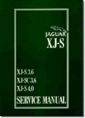 Jaguar XJS 3.6 and 4.0 Litre Service Manual - pr_214138