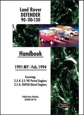 Land Rover Defender 90 110 130 Handbook 1991-Feb.1994 MY - pr_209249