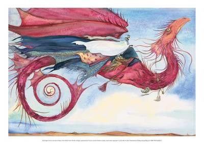 My Dragon Flies to the Secret Music of the Wind - Jackie Morris Poster -