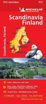 Scandinavia & Finland - Michelin National Map 711 -