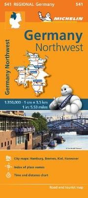Germany Northwest - Michelin Regional Map 541 - pr_215091