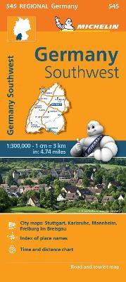 Germany Southwest - Michelin Regional Map 545 - pr_215080