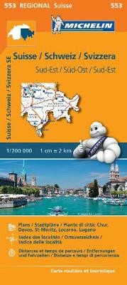 Suisse Sud-Est - Michelin Regional Map 553 - pr_215112