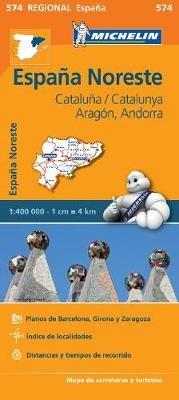 Aragon Cataluna - Michelin Regional Map 574 - pr_313788