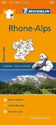 Rhone-Alps - Michelin Regional Map 523 - pr_16085