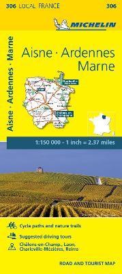 Aisne, Ardennes, Marne - Michelin Local Map 306 - pr_16057