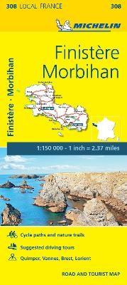 Finistere, Morbihan - Michelin Local Map 308 - pr_16264
