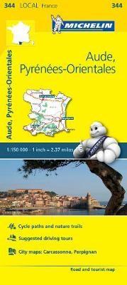 Aude, Pyrenees-Orientales - Michelin Local Map 344 - pr_16170