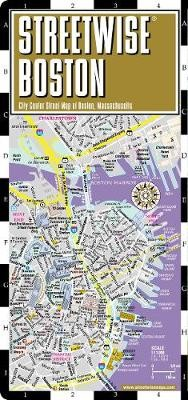 Streetwise Boston Map - Laminated City Center Street Map of Boston, Massachusetts - pr_237976