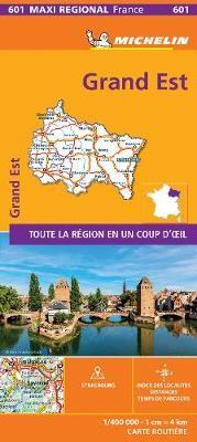 GRAND-EST, France - Michelin Maxi Regional Map 601 -