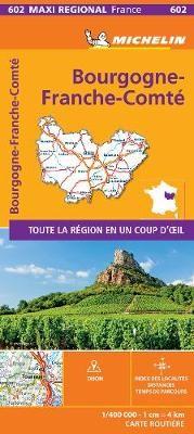 BOURGOGNE-FRANCHE-COMTE, France - Michelin Maxi Regional Map 602 -
