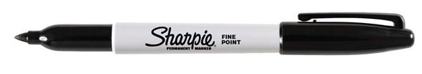 Sharpie Marker Permanent Fine Black -