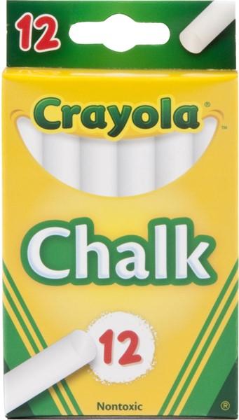 Crayola Chalk White 12 Pack -