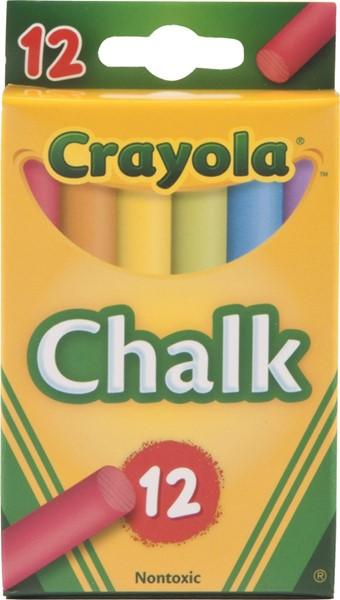 Crayola Coloured Chalk 12 Pack -