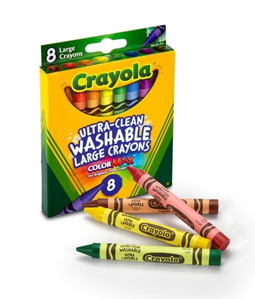 Crayola Washable Crayons Large 8 Pack -