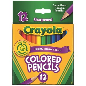 Crayola Coloured Pencils Half 12 Pack