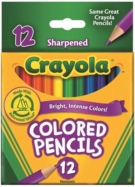Crayola Coloured Pencils Half 12 Pack - pr_400395