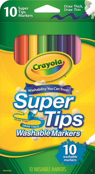 Crayola Super Tips Washable Markers 10 Pack -