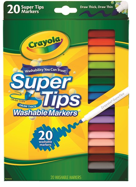 Crayola Super Tips Washable Markers 20 Pack -