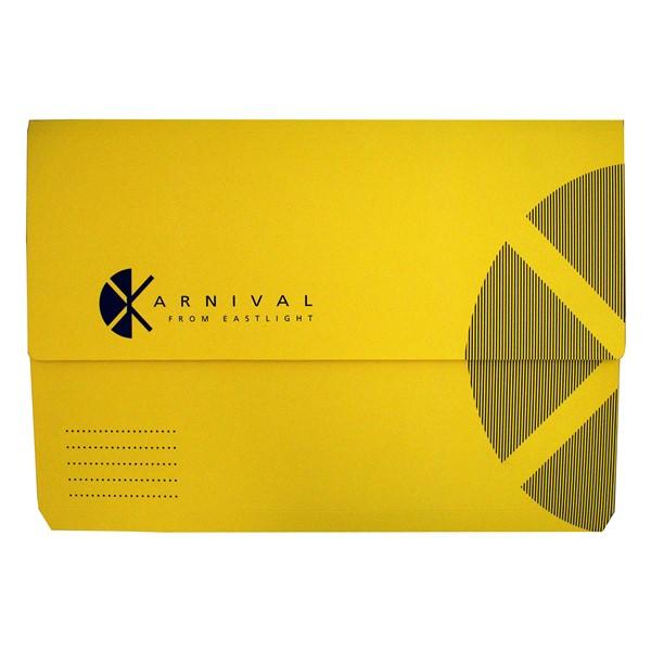 Eastlight Karnival Document Wallet Foolscap Yellow -