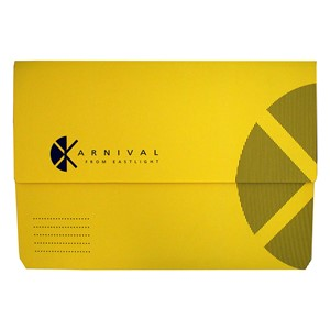 Eastlight Karnival Document Wallet Foolscap Yellow